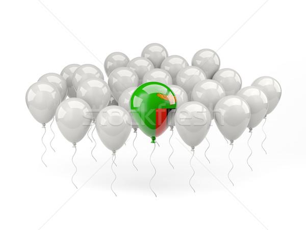 Air balloons with flag of zambia Stock photo © MikhailMishchenko