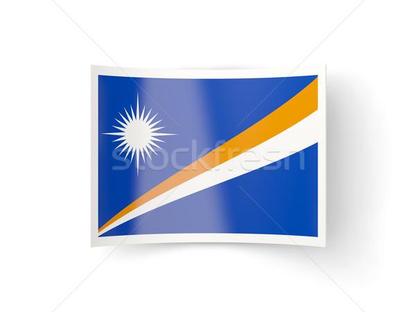 Bent icon with flag of marshall islands Stock photo © MikhailMishchenko