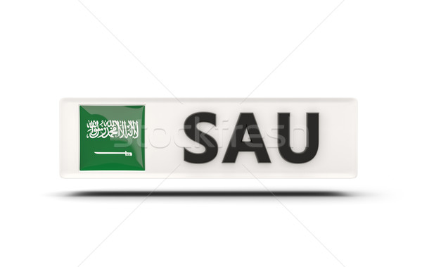 Square icon with flag of saudi arabia Stock photo © MikhailMishchenko