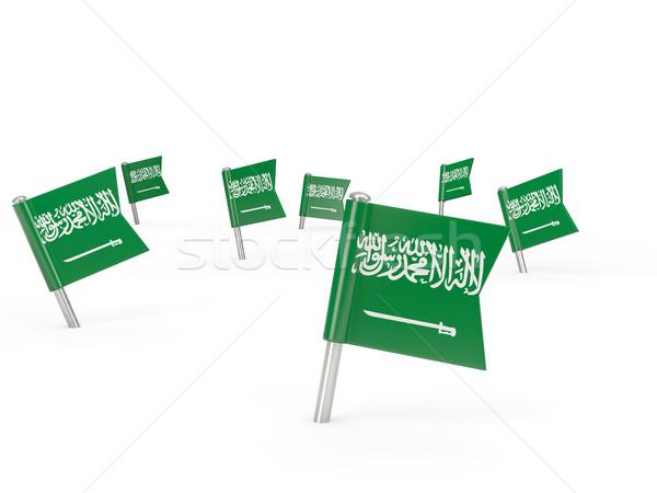Tér zászló Szaúd-Arábia izolált fehér vidék Stock fotó © MikhailMishchenko