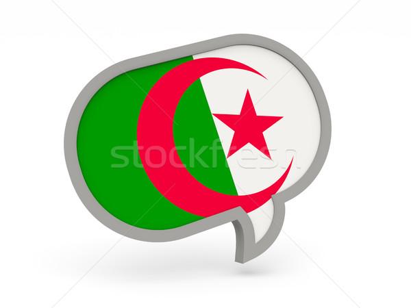 чате икона флаг Алжир изолированный белый Сток-фото © MikhailMishchenko