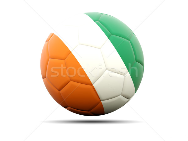 Calcio bandiera illustrazione 3d calcio sport squadra Foto d'archivio © MikhailMishchenko