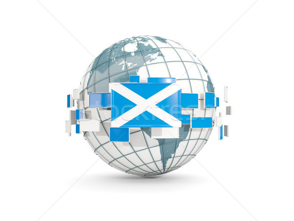 Globe with flag of scotland isolated on white Stock photo © MikhailMishchenko