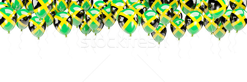 Balloons frame with flag of jamaica Stock photo © MikhailMishchenko