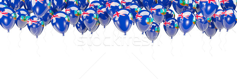 Balloons frame with flag of montserrat Stock photo © MikhailMishchenko