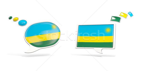 два чате иконки флаг Руанда квадратный Сток-фото © MikhailMishchenko