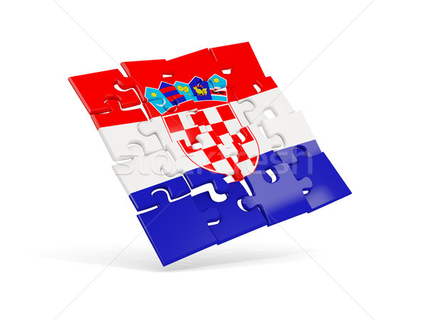 головоломки флаг Хорватия изолированный белый 3d иллюстрации Сток-фото © MikhailMishchenko