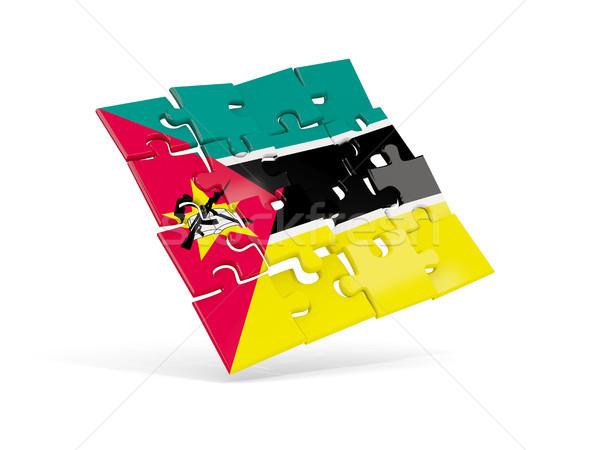Quebra-cabeça bandeira Moçambique isolado branco ilustração 3d Foto stock © MikhailMishchenko
