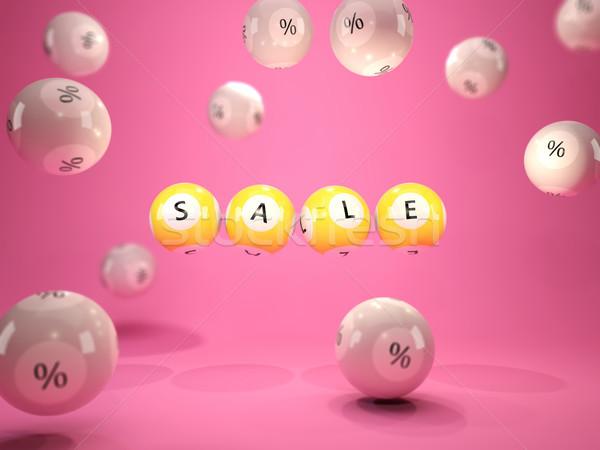 Verkoop winkelen Geel loterij roze Stockfoto © MikhailMishchenko