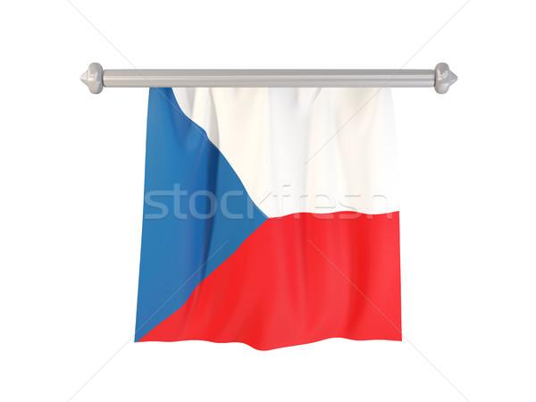 Bayrak Çek Cumhuriyeti yalıtılmış beyaz 3d illustration etiket Stok fotoğraf © MikhailMishchenko