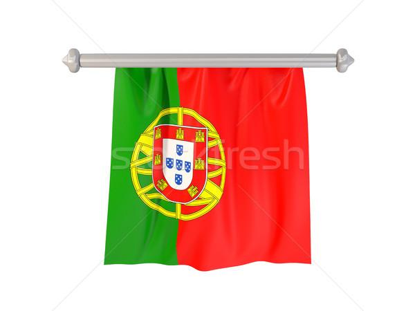 Bandera Portugal aislado blanco 3d signo Foto stock © MikhailMishchenko
