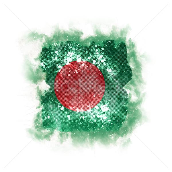 Praça grunge bandeira Bangladesh ilustração 3d retro Foto stock © MikhailMishchenko