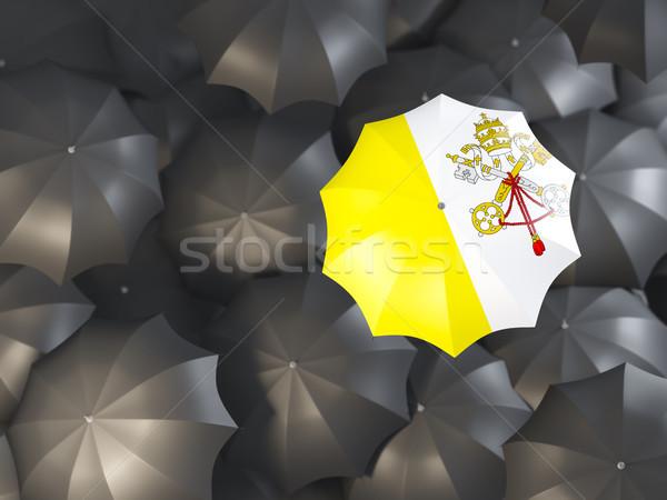 зонтик флаг Ватикан Top черный Сток-фото © MikhailMishchenko