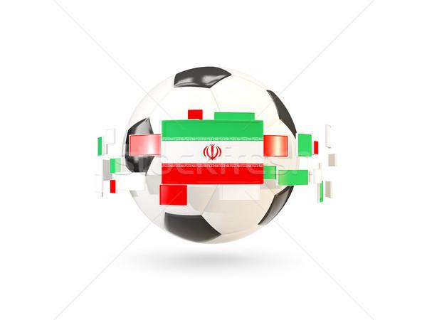 Futballabda vonal zászlók zászló Irán lebeg Stock fotó © MikhailMishchenko