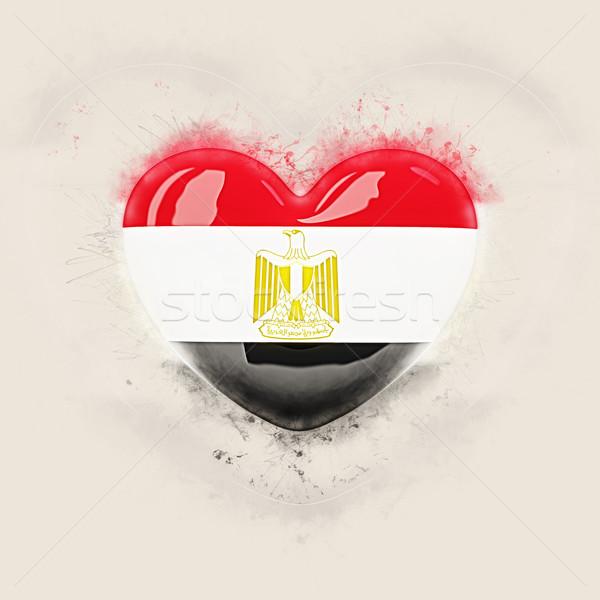 Szív zászló Egyiptom grunge 3d illusztráció utazás Stock fotó © MikhailMishchenko