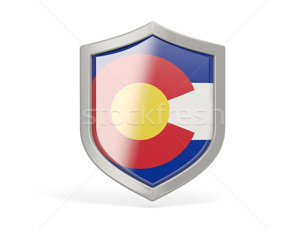 Escudo icono bandera Colorado Estados Unidos local Foto stock © MikhailMishchenko