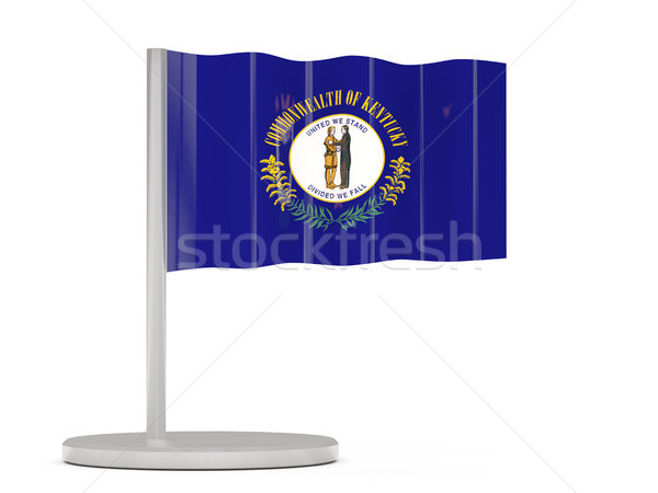 Flag pin with flag of kentucky. United states local flags Stock photo © MikhailMishchenko