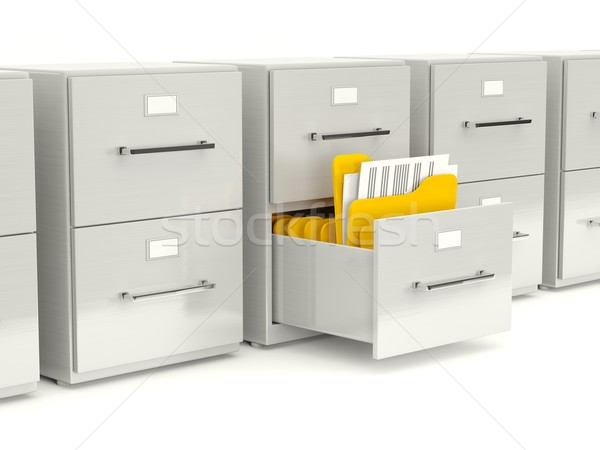 Archive cabinet with folders Stock photo © MikhailMishchenko