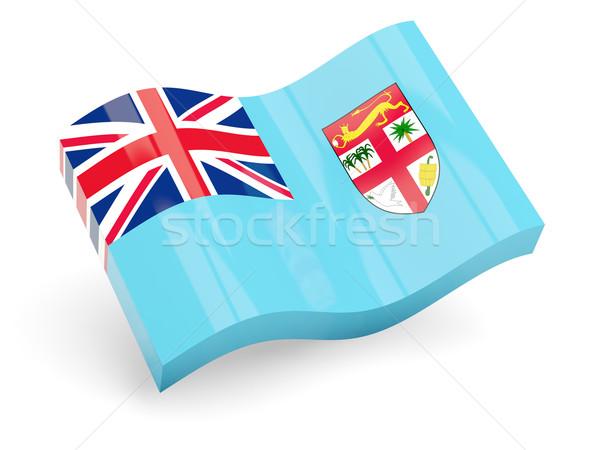 3D bandiera Fiji isolato bianco onda Foto d'archivio © MikhailMishchenko