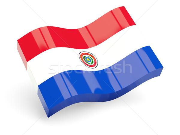 3D banderą Paragwaj odizolowany biały podróży Zdjęcia stock © MikhailMishchenko