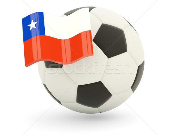 Football with flag of chile Stock photo © MikhailMishchenko