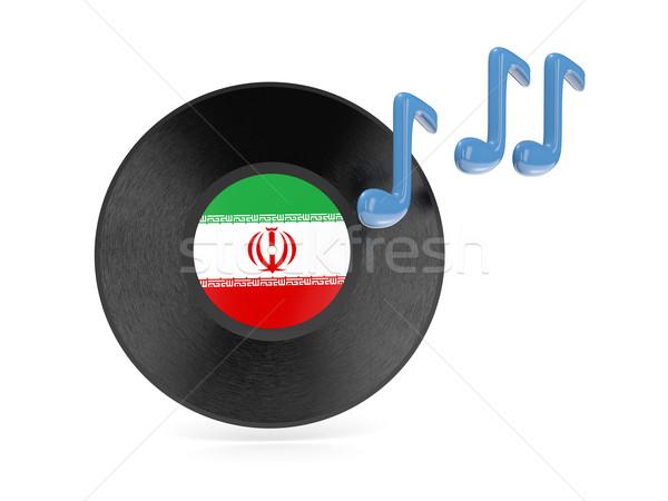 виниловых диск флаг Иран изолированный белый Сток-фото © MikhailMishchenko