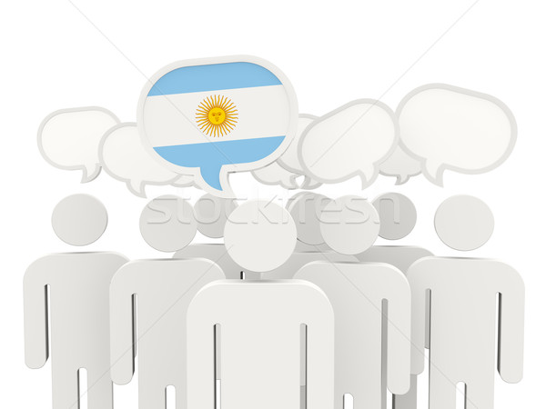 People with flag of argentina Stock photo © MikhailMishchenko