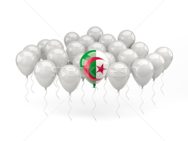 воздуха шаров флаг Алжир изолированный белый Сток-фото © MikhailMishchenko