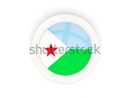 наклейку флаг Джибути изолированный белый путешествия Сток-фото © MikhailMishchenko