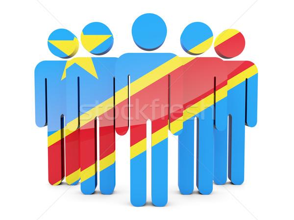 Ludzi banderą demokratyczny republika Congo odizolowany Zdjęcia stock © MikhailMishchenko