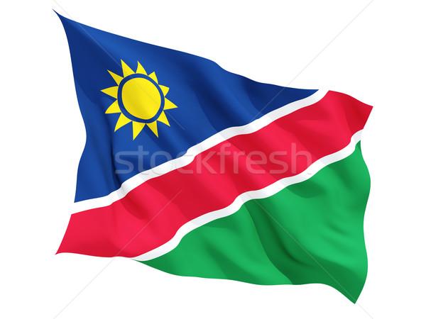 флаг Намибия изолированный белый Сток-фото © MikhailMishchenko