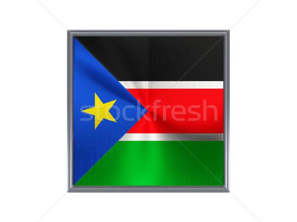 Tér fém gomb zászló dél Szudán Stock fotó © MikhailMishchenko