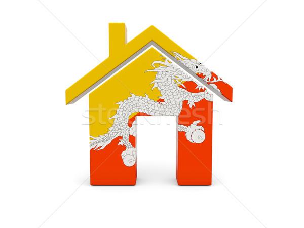 Home vlag Bhutan geïsoleerd witte Zoek Stockfoto © MikhailMishchenko