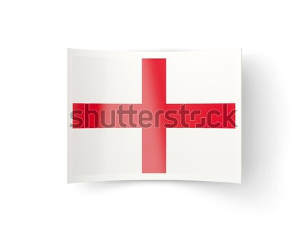 Bandiera etichetta Inghilterra isolato bianco segno Foto d'archivio © MikhailMishchenko