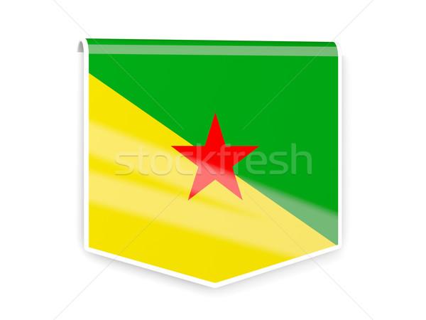 Flag label of french guiana Stock photo © MikhailMishchenko