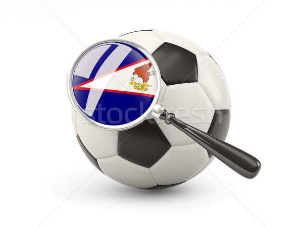 Voetbal vlag Amerikaans Samoa geïsoleerd witte Stockfoto © MikhailMishchenko