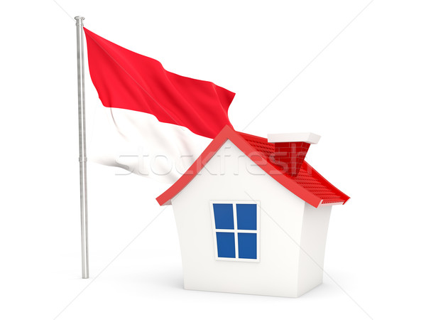Casa bandeira Mônaco isolado branco casa Foto stock © MikhailMishchenko