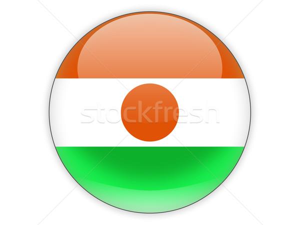 Icono bandera Níger aislado blanco viaje Foto stock © MikhailMishchenko