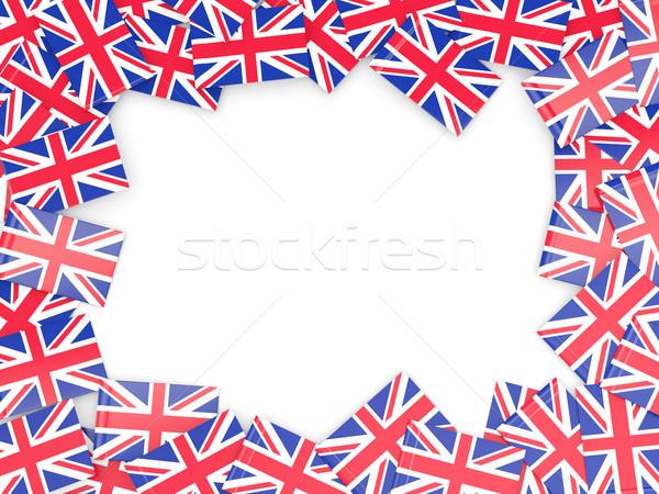 Frame bandiera Regno Unito isolato bianco Foto d'archivio © MikhailMishchenko