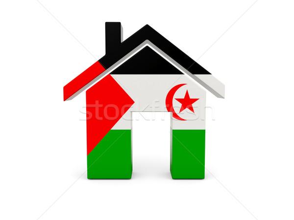Home vlag westerse sahara geïsoleerd witte Stockfoto © MikhailMishchenko