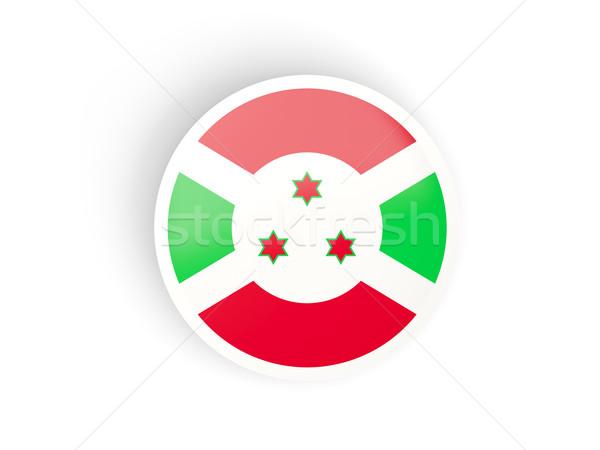Adesivo bandeira Burundi isolado branco viajar Foto stock © MikhailMishchenko