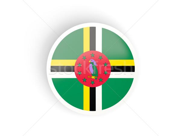 Sticker vlag Dominica geïsoleerd witte reizen Stockfoto © MikhailMishchenko