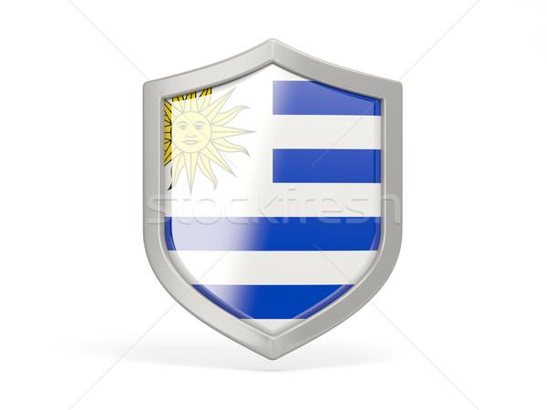щит икона флаг Уругвай изолированный белый Сток-фото © MikhailMishchenko