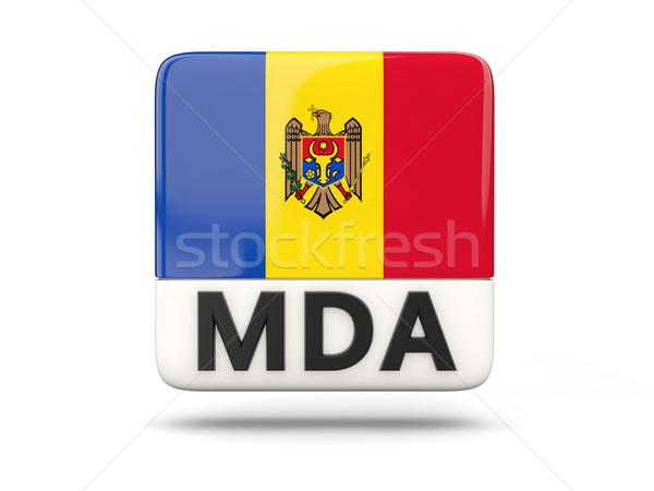 Tér ikon zászló Moldova iso kód Stock fotó © MikhailMishchenko