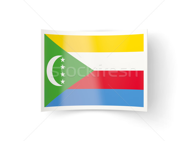 Bent icon with flag of comoros Stock photo © MikhailMishchenko