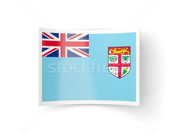 Icona bandiera Fiji isolato bianco paese Foto d'archivio © MikhailMishchenko