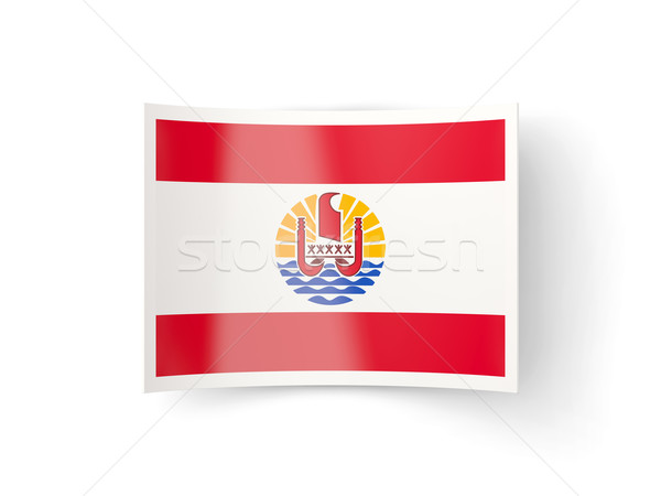 Icona bandiera francese polinesia isolato bianco Foto d'archivio © MikhailMishchenko