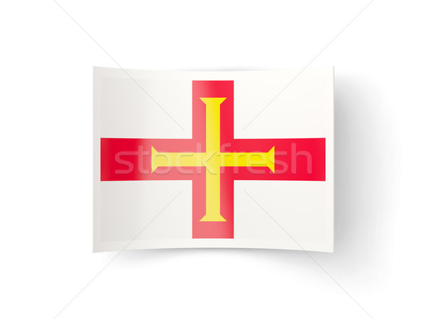 Bent icon with flag of guernsey Stock photo © MikhailMishchenko