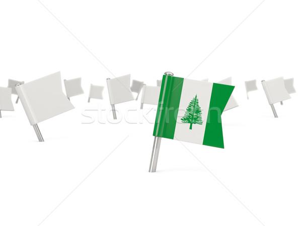 Square pin with flag of norfolk island Stock photo © MikhailMishchenko