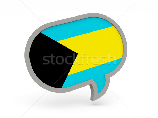 Conversar ícone bandeira Bahamas isolado branco Foto stock © MikhailMishchenko